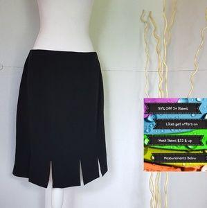 Like New! Requirements Black Multi-Split Skirt